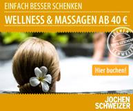 Wellness-Behandlungen und Massagegutscheine als Geschenkidee finden